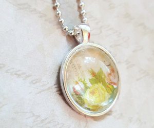 etsy, antique necklace, and flower necklace image
