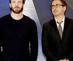 chris evans and robert downey jr image