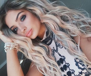 beauty, girl, and blond hair image