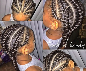 cornrows, cutie, and hair image