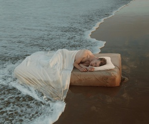 beach, boy, and sleep image