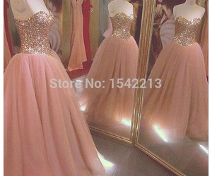 dress, pink, and Prom image