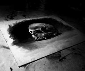 drawing and skull image