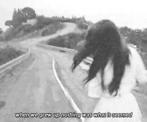 lana del rey, quote, and black and white image