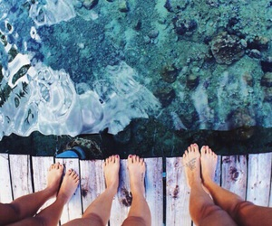 blue, feet, and water image