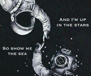 quote, space, and stars image