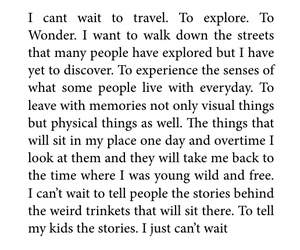 future, quotes, and travel image