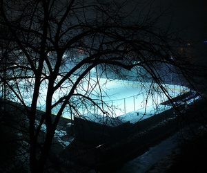 cold, evening, and ice rink image