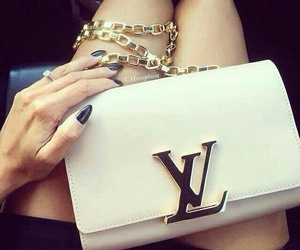 Louis Vuitton, nails, and bag image