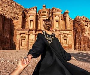 couple, travel, and jordan image