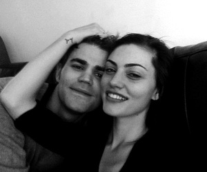 paul wesley, couple, and phoebe tonkin image