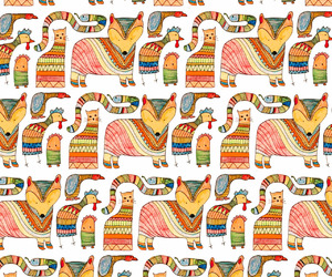 animals, background, and pattern image