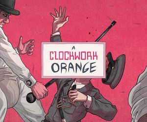 a clockwork orange, movie, and police image