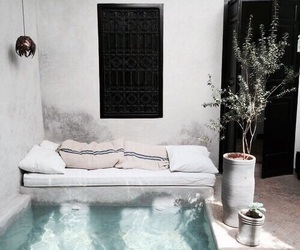 home, interior, and pool image
