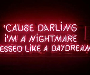 darling, neon sign, and daydream image