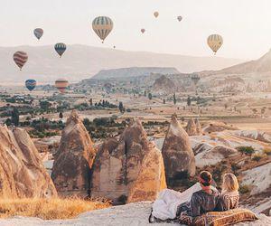 cappadocia, turkey, and balloons image