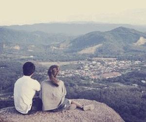 boy, city, and couple image