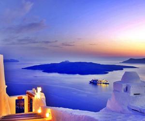 santorini, Greece, and sea image