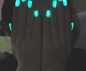 nails, neon, and blue image