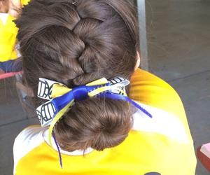blue, bow, and braid image