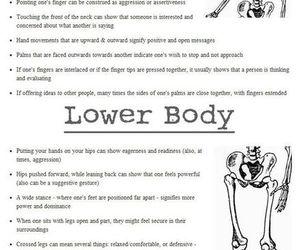 writing and body language image