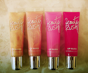 pink, Victoria's Secret, and lip gloss image