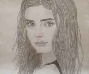 art, pencil, and portrait image