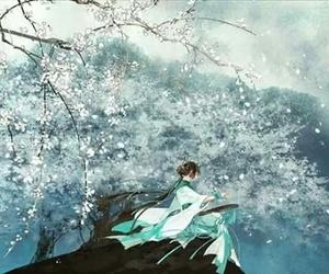 blue, hanfu, and girl image