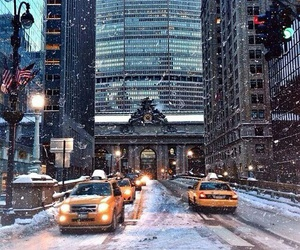 city, place, and snow image