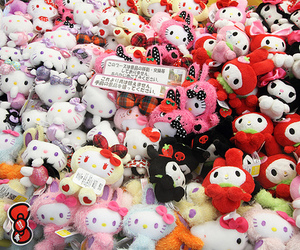cute, hello kitty, and plush image