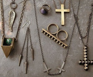 cross, necklace, and jewelry image
