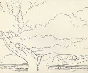 cloud, dessin, and draw image