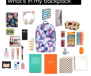 backpack, stationary, and study image