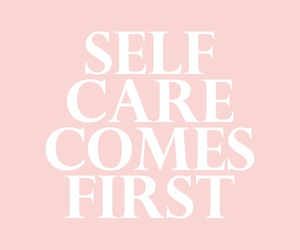 quotes, pink, and self care image