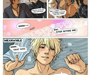 cute boy, cain and abel, and yaoi comic image