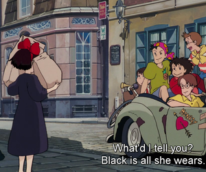 anime, witch, and black image