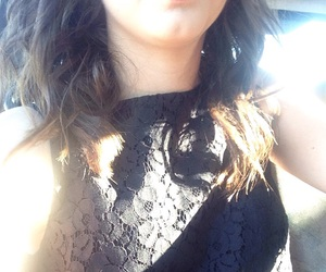 outfit, black, and hair image