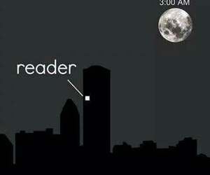 book, reader, and night image