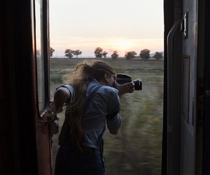 photography, travel, and train image