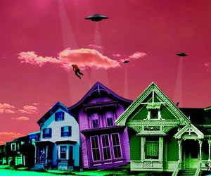 alien, house, and Ovni image