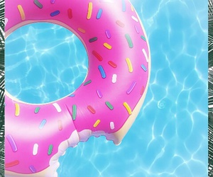 donut, ete, and summer image
