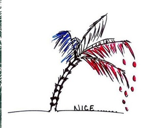 france, nice, and attentat image