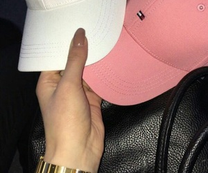 cap, tommy hilfiger, and white image