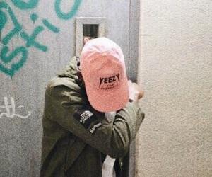 yeezy, pink, and dab image