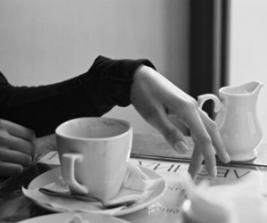 coffee, black and white, and black image