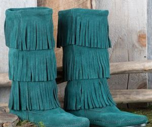 boho, boots, and comfort image