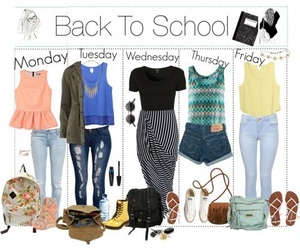 fashion, outfit, and back to school image
