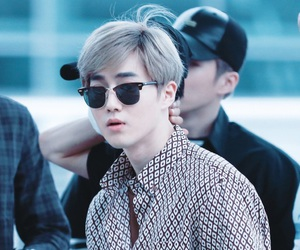 airport, exo, and handsome image
