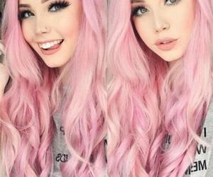 girl, make up, and pink image