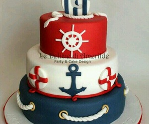 cake, pirate, and food image